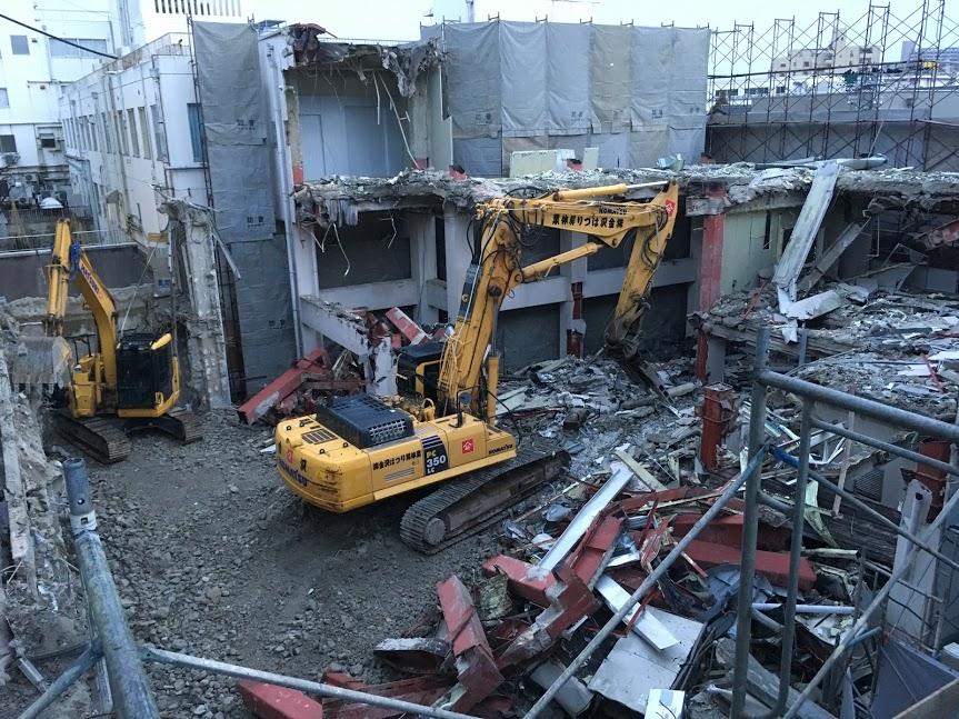 第二期工事 解体作業が始まりました