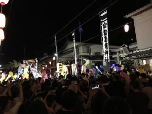 2日目夜は輪島大祭も見に行きました。