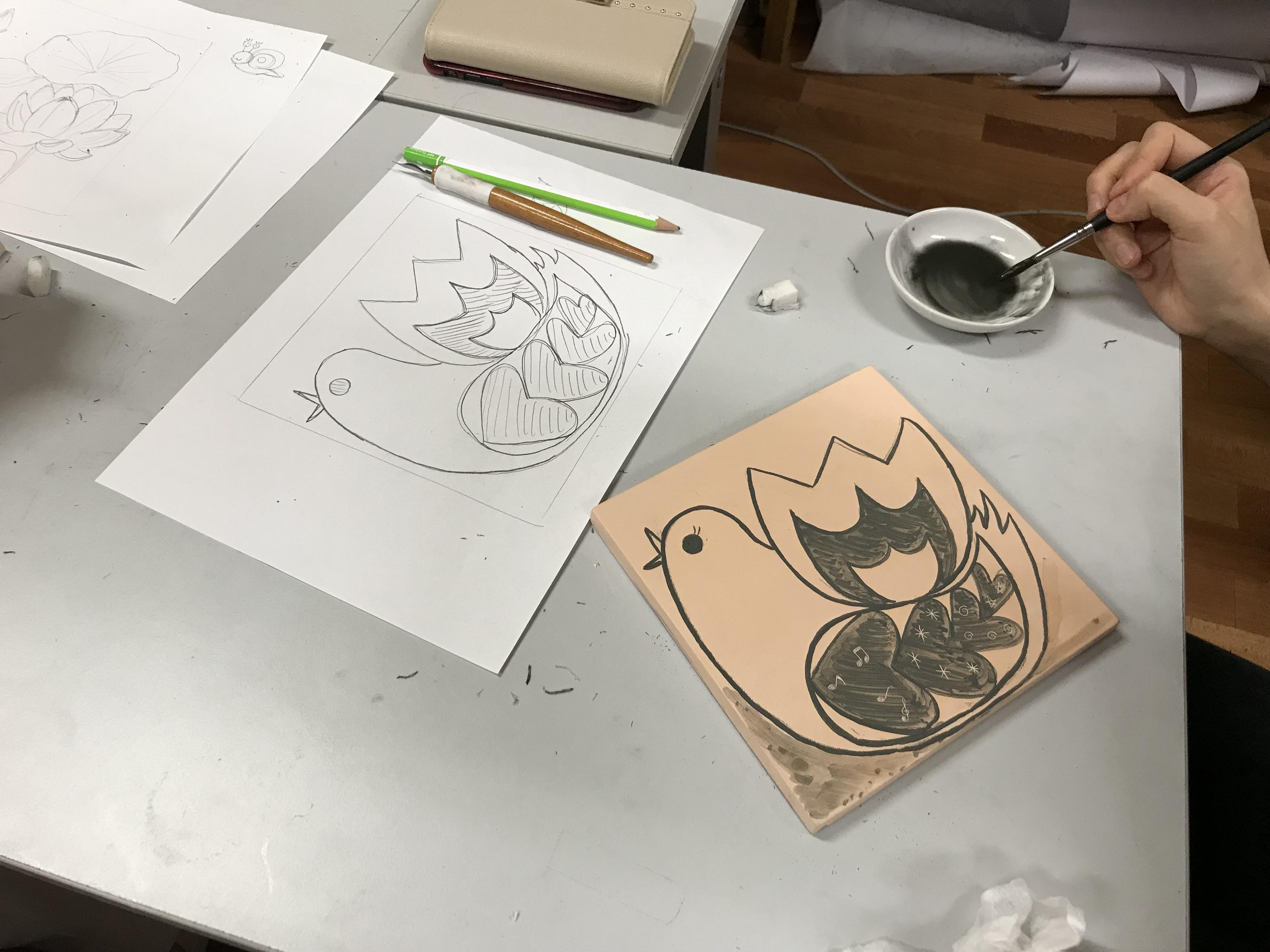「ホスピタルアート  陶板壁画の制作スタート!」